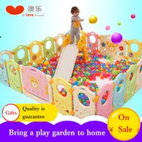 ingrosso recinzione in plastica-AOLE plastica colorata Baby Gate Door Stop Child Game Fence Baby Crawling Toddlers Guardrail gioco box box stella