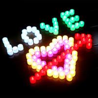 ingrosso luce cistica-Confezione da 24 Luminoso WhiteTea luci a pile LED Cystal Tea Lights Flicker senza fiamma Matrimonio festa di compleanno decorazione di Natale