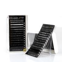 extensions de cils 14mm achat en gros de-Bella Mink Cheveux Cils Extensions B / C / D / J Curl Salon Professionnel Utilisez Épaisseur 0.15mm Volume Individuel Cils Longueur 8-14mm Plateau Mixte