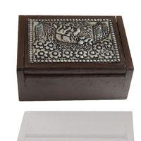 ingrosso tin wood boxes-Scatola di stuzzicadenti in legno stile thailandese in latta a forma di elefante superficie artigianale fatti a mano elegante porta stuzzicadenti ZA6947 spedizione gratuita