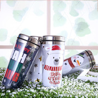 Wholesale best steel water bottles resale online - Stainless Steel Water Bottle Eco Friendly Flamingo Mug Christmas Theme Vacuum Cup For Children Best Gift Many Styles jx ZZ
