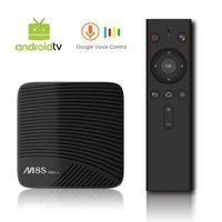 voz remota al por mayor-MECOOL M8S PRO L Android TV OS Netflix 1080P 3GB / 16GB YouTube 4K TV Box con Voice Remote Amlogic S912 802.11ac WiFi