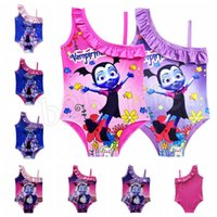 Wholesale girls character swimwear for sale - Vampirina kids swimwear T Baby Girls Swimsuit Vampirina Printed One piece swim suit Cartoon Printed Swimsuit Bathing Suits MMA394