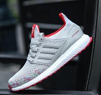 dokuma alt ayakkabılar toptan satış-2018 YENI-Ücretsiz Kargo Erkek Ayakkabı Erkekler için Ayakkabı Kırmızı Dipleri Erkekler Rahat Ayakkabılar Ucuz Ayakkabı Fly Örgü Ultras Boosts