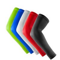 Wholesale Cycling Arm Sleeves Warm - 1 Pair Elastic Perspiration Breathable Sport Basketball Volleyball Elbow Support Pads Compression Cycling Volleyball Arm Sleeves Warmer