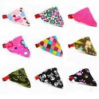 Wholesale small dog bandana collar - Lovely Adjustable Pet Dog Collar Puppy Cat Scarf Collar for Dogs Bandana Neckerchief Pet Accessories xs s m l xl size in stock