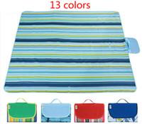 ingrosso campi di tenda di alta qualità-Spring Picnic Mat Camping pad a prova di umidità Outdoor Beach Mat impermeabile Oxford panno Tent pad Family Tour materasso a base di plaid di alta qualità