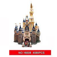 Wholesale building blocks castle - LEPIN 16008 Cinderella Princess Castle City set 4080pcs Model Building Block Kid DIY Toy Birthday Gift Compatible 71040