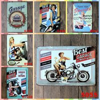 Wholesale folk art christmas for sale - BEST GARAGE FOR MOTOCYCLE Paint cm Metal Tin Signs Christmas Decorations Luxury Home Decor Posters Wall Art Arts and Crafts