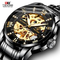 tevise роскошные мужчины оптовых-TEVISE Number Sport Design Mechanical Watches Waterproof Mens Watches Top  Male Clock Men Automatic Skeleton Watch