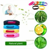 Wholesale repellent band bracelets anti mosquito - Anti Mosquito Pest Insect Wristband silicone Repellent Repeller Wrist Band Bracelet Protection Safe Bracelet Pest Control FFA292 120PCS