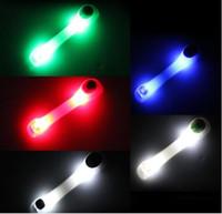 luces de seguridad led brazaletes intermitentes al por mayor-Brazaletes LED Funcionamiento nocturno Caminar Ciclismo Seguridad Pulseras Pulseras Luces Intermitentes Resplandor Deportes al aire libre Luminoso Reflectivo Celosía lámpara led