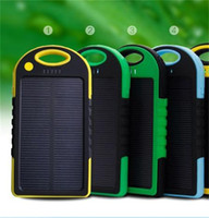 Wholesale portable charger capacity resale online - 5000 Ma Solar Charger Rechargeable Treasure Portable Source Camping Lantern Large Capacity High Power Multi Export Export yl dd
