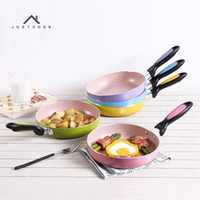 Wholesale japanese oil - Justcook 20 Cm Japanese Style Frying Pan Non -Stick No Oil -Smoke Griddles & Grill Pans General Use For Gas And Induction Cooker