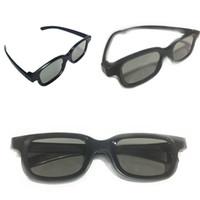 3d bardak siyah toptan satış-Ucuz 3D polarize stereo gözlük Siyah 3D sinema gözlük 3D gözlük adanmış sineması adanmış değil Malzeme ABS 128