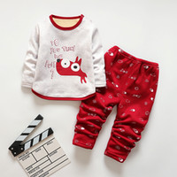 Wholesale Fun Orange Boys Clothes Toddler Boy Clothing Cotton Children A Girls Clothes Cartoon Kids Clothing Set T shit Pants