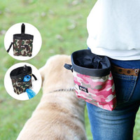 Wholesale camouflage dog bag online - Camouflage Pet Food Training Pouch Dog snack Puppy Walking Treat Snack Bag Dispenser Waist Storage Food Container Bag FFA318 COLORS