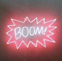 ingrosso garage di neon sign-BOOM Neon Sign Handmade Real Tubo di vetro Garage Decorazione della casa Camera da letto Display Art Insegne al neon con protezione trasparente 19