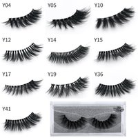 Wholesale long human hair eyelashes online - Newest makeup D Eyelashes Eye lash Transparent Plastic Extension Sexy styles Eyelash Full Strip Eye Lashes DHL shipping