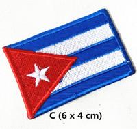 ingrosso patch personalizzati-Vendita all'ingrosso 10 pezzi Bandiera Cuba (4 x 6 cm) Bandiera del mondo ricamato applique ferro su patch (AL) Custom Made
