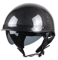 ingrosso caschi moto aperti-Casco moto in fibra di carbonio moto Open Face Retro Vintage JET Caschi Motocross Capacete Moto Casco moto