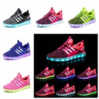 Wholesale wholesale children shoes online - Children LED Shoes Kids Casual Luminescence Shoes Colorful Glowing Baby Boys Girls Sneakers USB Charging Light up outdoor Shoes GGA1043