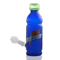 ingrosso bottiglia di chiodo a forma di-bong di vetro di forma della bottiglia della bevanda con il downstem chiodo dab rig dab rigs tubo di vetro smerigliatrice Dab Rig water pipe