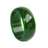 ingrosso braccialetto del braccialetto di giada 62mm-Natural Beautiful Jadeite Jade Bangle Bracelet fatto a mano larga 56mm - 62mm