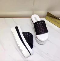 f69804cad175 Stella Mccartney Weaving Upper Women Wedge Sandals Slides Shoes Slip-on  Best Quality 2018 Summer
