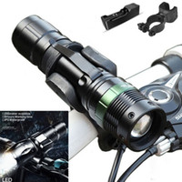 Wholesale flashlight tactical t6 mount for sale - Group buy T6 LED Flashlight Cycling Bike Lamp Mount Clip LM Zoomable Modes USB Rechargeable AAA Flash Light Torch Waterproof