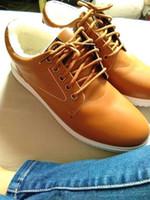botas de tornozelo branco homens venda por atacado-Moda homem Plana Inverno Quente Ankle boots Mens Sapatos Casuais de Couro PU preto branco Sapatos de Desporto Sapatilhas Sapatos de Corrida De Jogging Ao Ar Livre