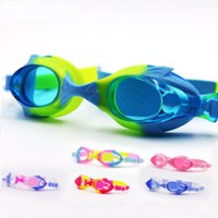 Wholesale kids diving toys online - Outdoor Children Swimming Goggles Anti Fog High Definition Colorful Silicone Eyeglasses Boys Girls Kids Diving Swim Glasses Practical ms YY