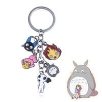 llaveros japon al por mayor-Japón Anime mi vecino Totoro llaveros lindo imagen de dibujos animados figura llaveros Chaveiro regalo para niños niños joyería