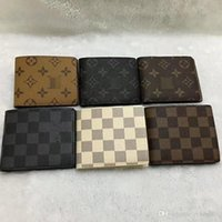 Wholesale Luxury Leather Portfolios - Cuzdan Male Luxury Small Portfolio Designer Famous Brand Short Leather 2018 luxury Men Wallet Purse Carteras Walet Bag Money Vallet Pocket A