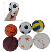Wholesale Soft Football Toy - Hot sale Kawaii Soft football squishies volleyball Squishy Toy Slow Rising for Relieves Stress Anxiety Home Decoration FT0004