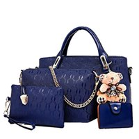Wholesale brown lashes resale online - Pink sugao new style set fashion handbag with bear Lashes designer handbags tote bag cross body bag women messenger shoulder bag