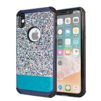 piscamento do iphone venda por atacado-Para samsung galaxy note 8 rhinestone bling armadura blink case para iphone x iphone 8 plus pu couro diamante tampa do telefone d