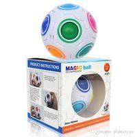 пазлы бесплатно веселья оптовых-Cube Rainbow Ball Cube Speed Football Fun Творческий Мяч Головоломка Детское Образование Обучение Детей Игрушки Игры Для Взрослых Подарки Бесплатная Доставка