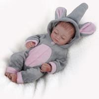 wiedergeborenes baby schläft groihandel-NPKDOLL Mini Voll Vinyl Puppen wieder geboren Babypuppe Naturgetreue Silikon Spielzeug für Mädchen Schlafen Mädchen Puppe für neugeborene Kinder