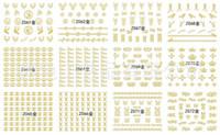 3d parıltı çıkartmaları toptan satış-2 adet Altın Gümüş 3D Tırnak Kaymak Çıkartmaları Nail Art Sticker Glitter Metal Hollow Marka Logo Taç Yapışkanlı Manikür Dekor Z61-72