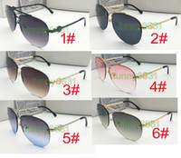 Wholesale golden film sunglasses for sale - Group buy 5PCS summer woman outdoor sport color film metal Sunglasses ladies driving goggle reflective mirror sunglasses colors A