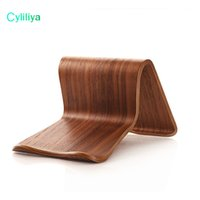Wholesale tablet tab2 online - Hot SAMDI Real Wooden Mobile Tablets Stand Holder for iPad Air For Galaxy Tab Note Tab2 Two Colors