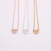 en iyi kolye toptan satış-18 K Altın Gümüş Kaplama Kolye kolye Düz alt katı aşk kolye kadınlar için en iyi hediye