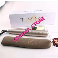 Wholesale Hair Curlers Japan - TYME Iron Gold Plated Titanium Plates Hair Straightener Flat Irons Fast Hair Straightening Ceramic Hair Curler Styling Tools DHL Free