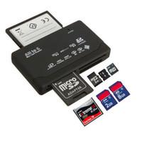 mmc cf sd reader venda por atacado-Universal Micro Tudo em Um Leitor de Cartão de Memória USB SD Externo SDHC Mini Micro M2 MMC XD CF Ler e Escrever Cartão de Memória Flash
