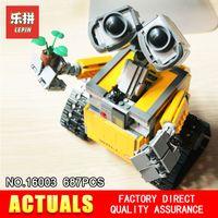 Wholesale toy bricks for children online - Lepin Idea Robot WALL E Building Set Kits Bricks Blocks Brock toy Model Bringuedos for children