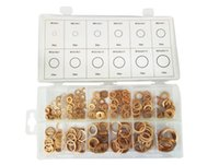 Wholesale 280Pcs Box M5 M20 New Solid Copper Washer Gasket Copper Washers Set Sealing Ring Assortment Kit Set High Quality