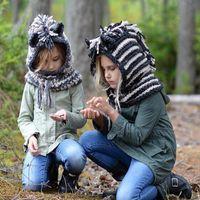 sudaderas de invierno de lana al por mayor-Unicornio para niños sombrero de lana otoño invierno cálido sombrero de punto casual cómodo bebé lindo Sudaderas con capucha raya KKA6166
