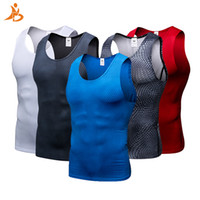 Wholesale cool gym clothes for sale - Group buy 2018 YD New Compression Tights Gym Tank Top Quick Dry Sleeveless Sport Shirt Men Gym Clothing For Summer Cool Men s Running Vest Y1890402