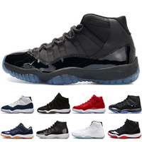 Wholesale easter glitter online - 11 s Cap and Gown Prom Night Basketball Shoes Platinum Tint Gym Red Bred PRM Heiress Barons Concord Platinum Tint mens sports sneakers